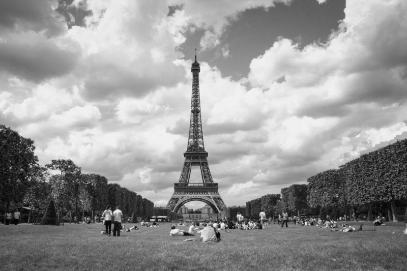 Eiffel Tower, Paris, 2008. This is one of my first travel photos. The exposure's a little wonky and it was mid-day, but it reminds me of some good times. I kept all the images I made that summer, even the terrible ones.