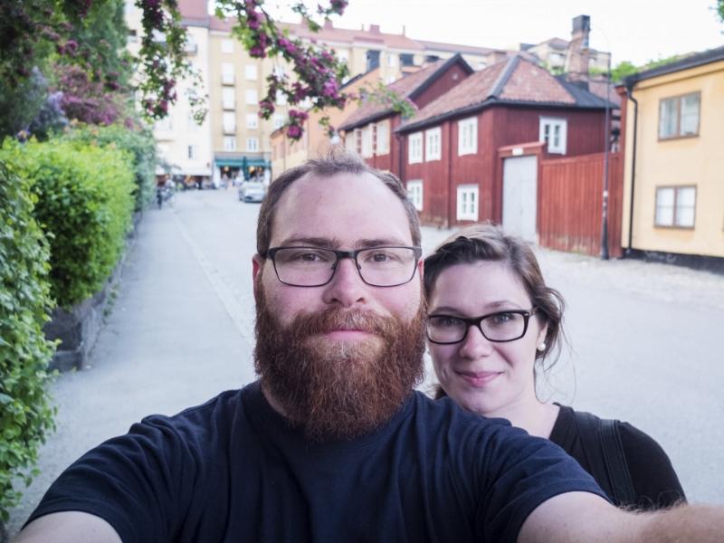 Selfie in Nytorget, Stockholm, Sweden, 2016.