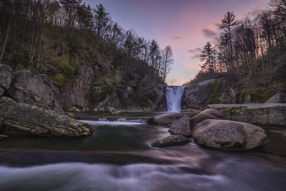 Elk River Falls Sunset, Blue Ridge Mountains, North Carolina