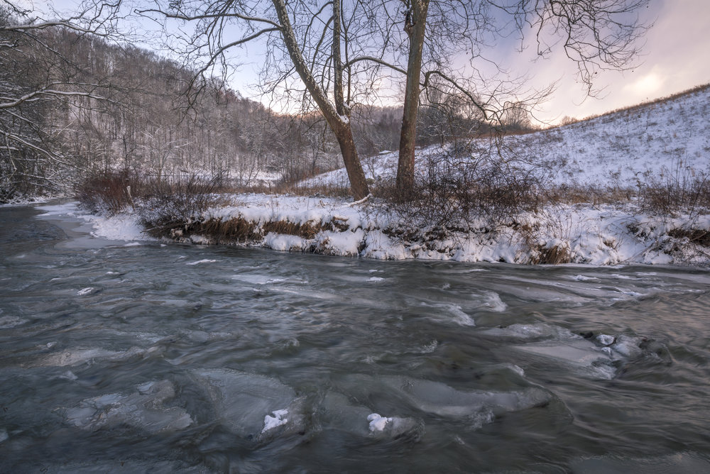New River Winter, Blue Ridge Mountains, North Carolina