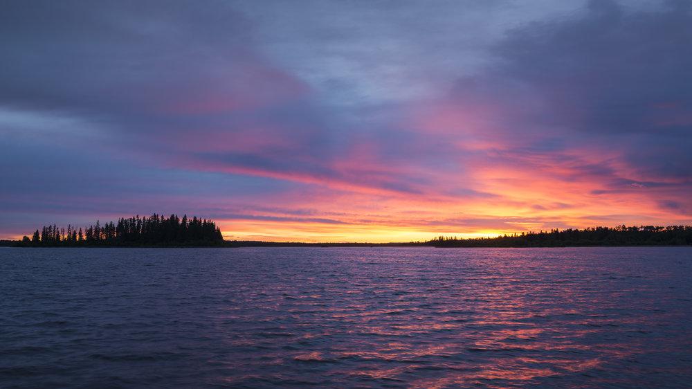 Sunset at Astotin Lake, Elk Island National Park,Alberta, Canada