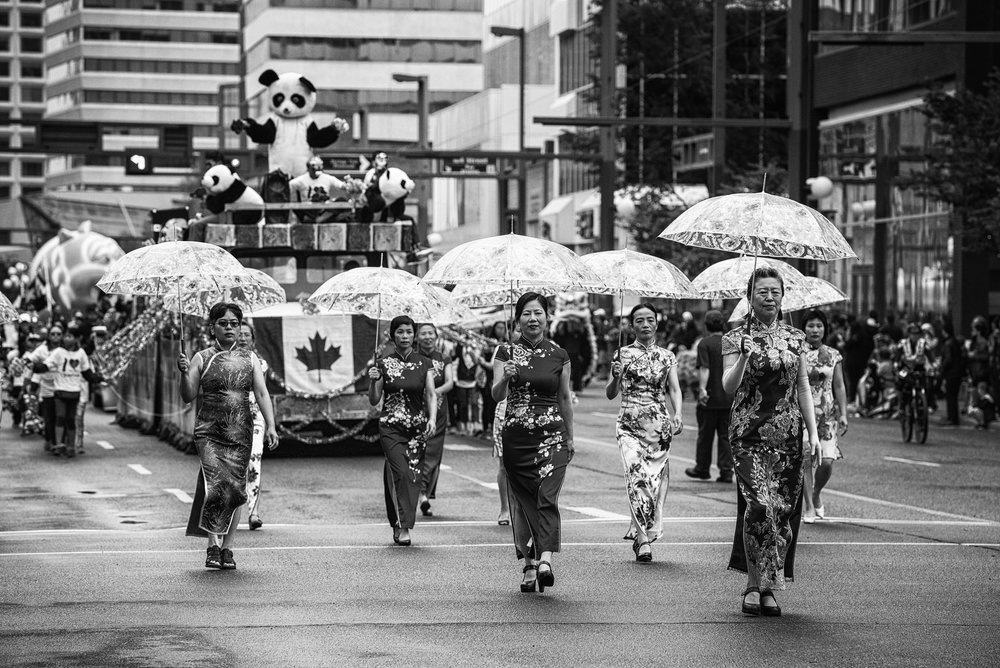 Members of the Chinese Community marching in Edmonton's K- Days Parade, Edmonton, Canada (2017)