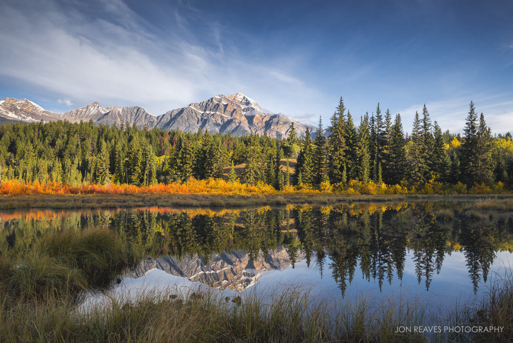 Pyramid Mountain in Autumn,Jasper National Park