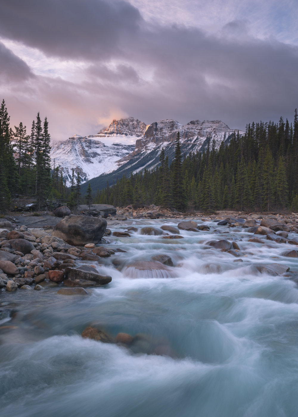 Mistaya Canyon Sunrise, Banff National Park