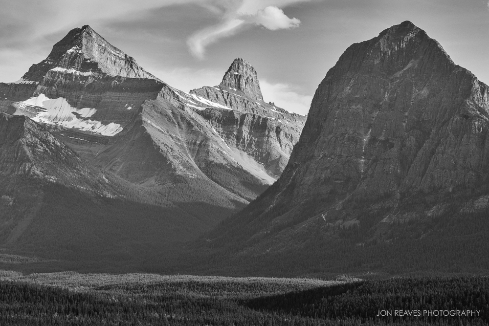Mount Christie and Brussels Peak, Jasper National Park