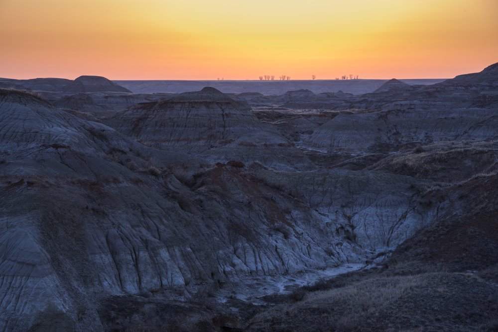Sunrise over the Canadian Badlands, Dinosaur Provincial Park