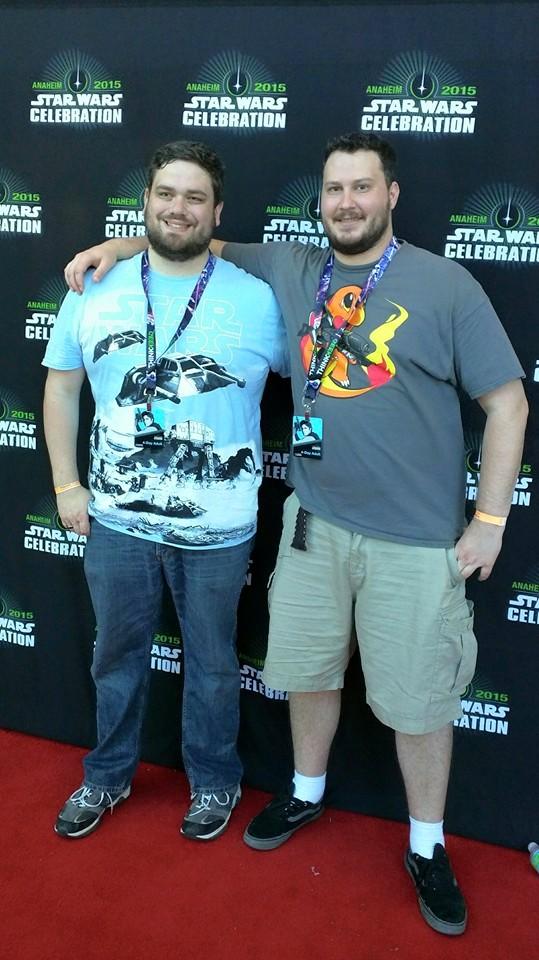 Trent (left) & Ryan enjoying star wars celebration 2015.
