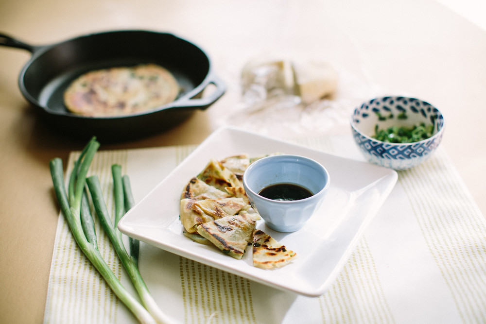 Simple Green Onion Pancakes
