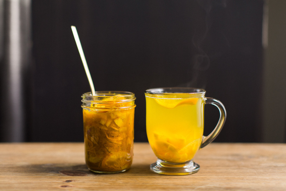 Cold Remedy Tea Turmeric Ginger Citrus Honey Honeysuckle