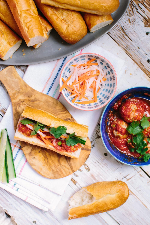 Vietnamese Meatballs (Xiu Mai) and Banh Mi