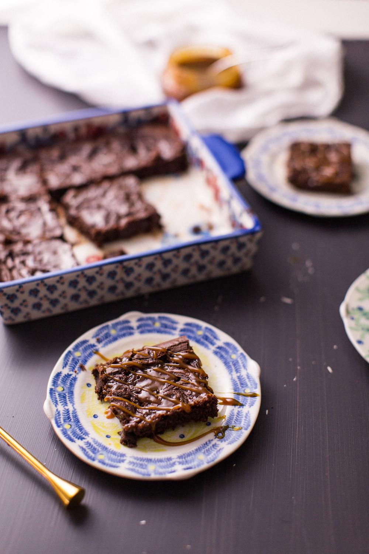 Salted Caramel Brownies recipe Honeysuckle