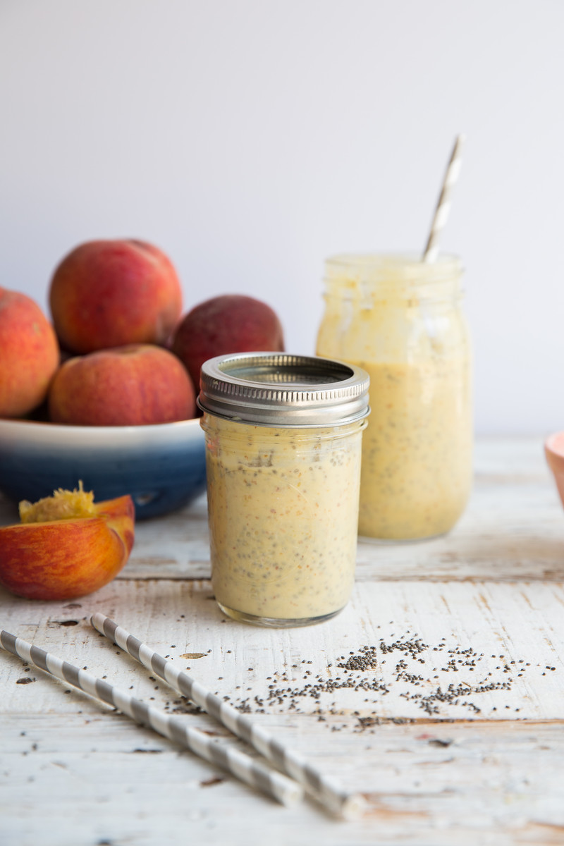 Peach Chia Shake Honeysuckle