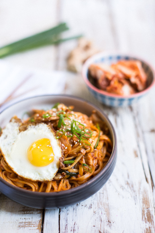 Kimchi Fried Noodles Honeysuckle