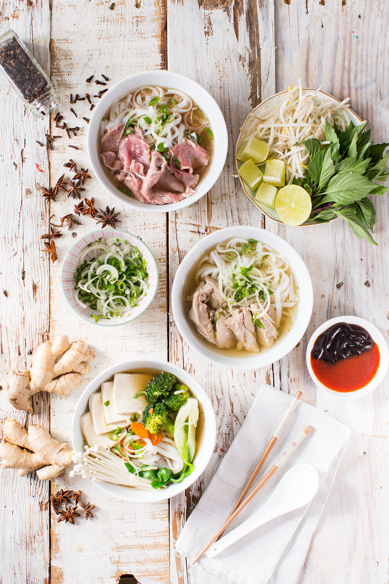 Pho 3 ways - Honeysuckle