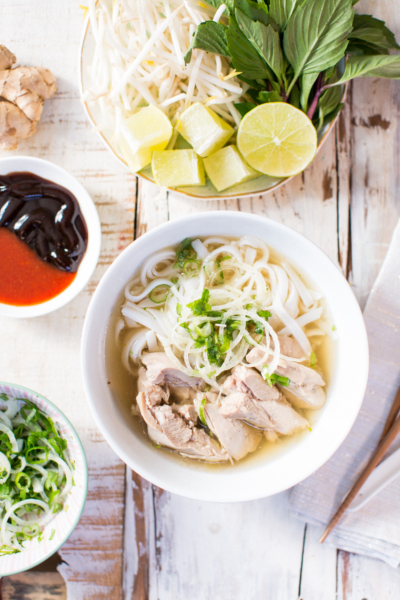 Pho ga - Chicken Pho Recipe - Honeysuckle