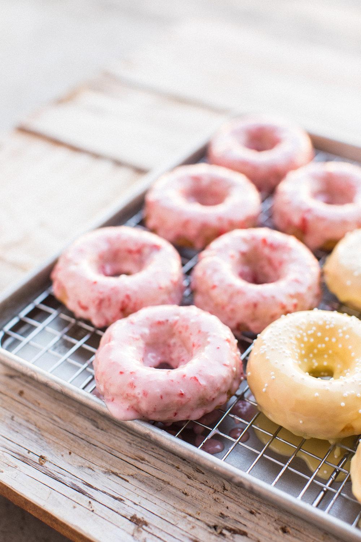 strawberry donuts - honeysuckle