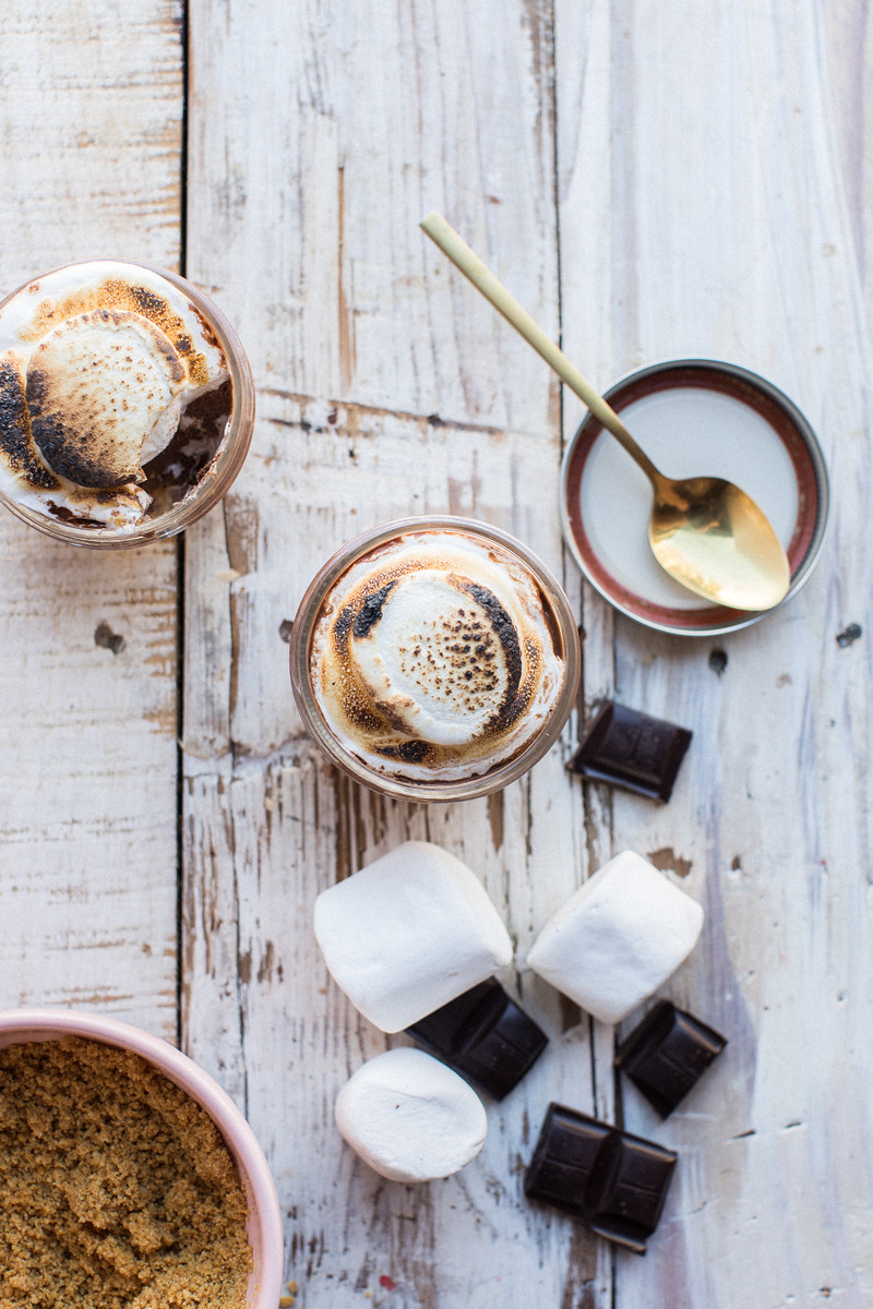 S'mores mousse cups - honeysuckle