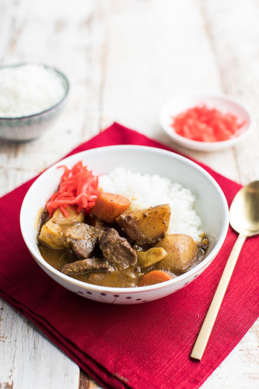 japanese beef curry - honeysuckle