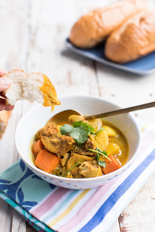 vietnamese chicken curry - honeysuckle