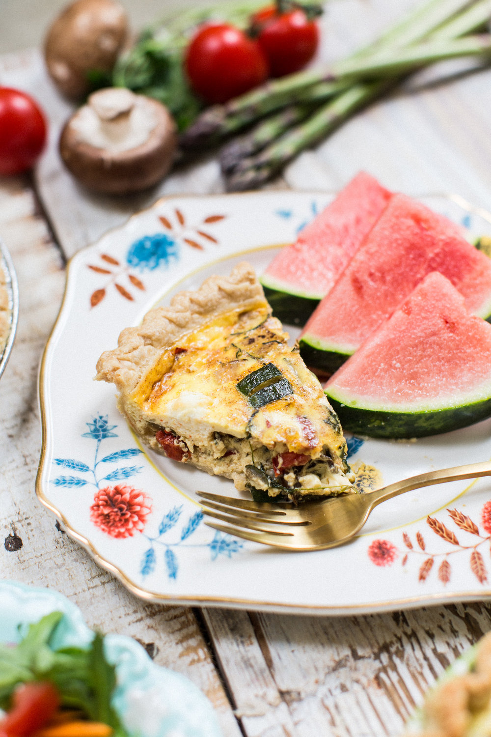 Veggie Quiche - Honeysuckle