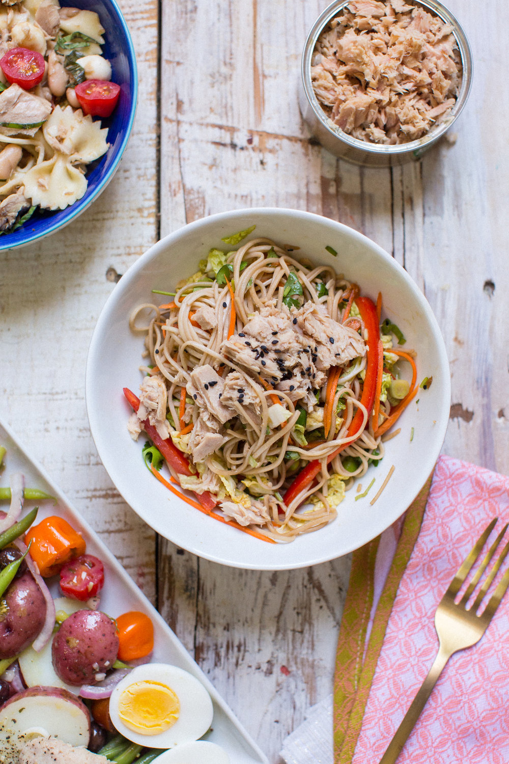 soba noodle salad - honeysuckle
