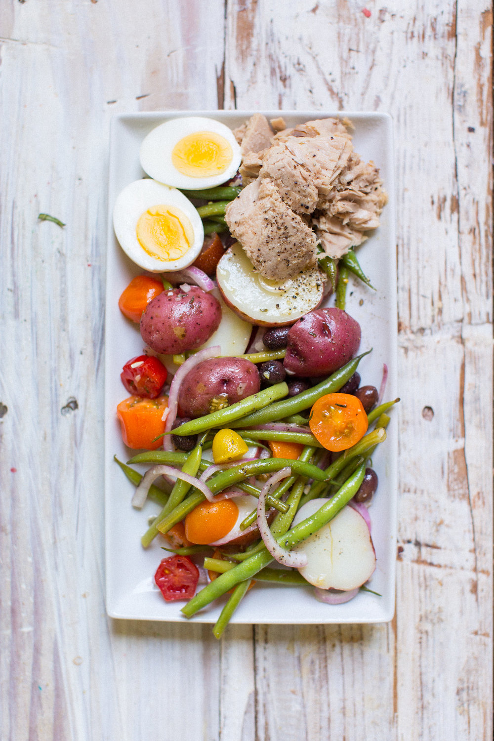 nicoise salad - honeysuckle