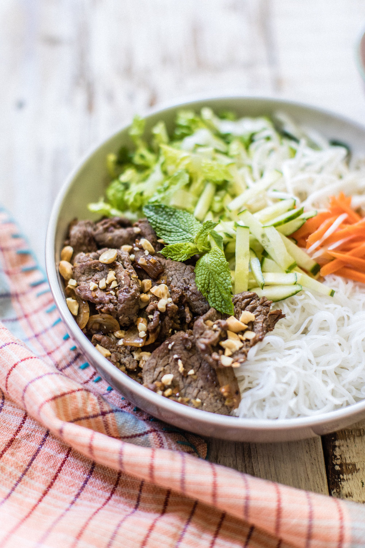 Vietnamese Lemongrass Beef Noodle Salad