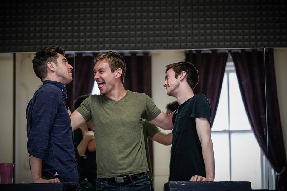 Tickets to Afterglow at the Davenport Theatre on sale HERE with discount code AGFFM36 - A snapshot of rehearsals with Robbie Simpson and Patrick Reilly who make up the cast of Afterglow.