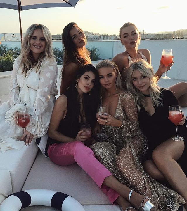 thank you @greygoose for the amazing night with these power babes. 🥂 #summerwelllived #flybeyond #ibiza