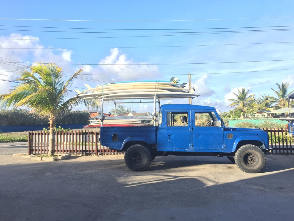 Every morning, we loaded the trucks to go surf with the wonderful folks from Zed's Surfing.  We surfed crystal clear, refreshingly cool waters along turtles and colorful fish.