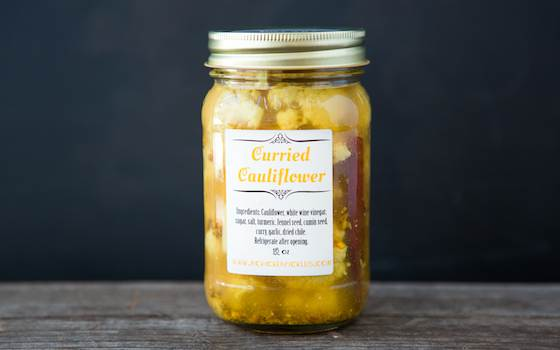 Curried Cauliflower Buy two. The first jar won't last the day.