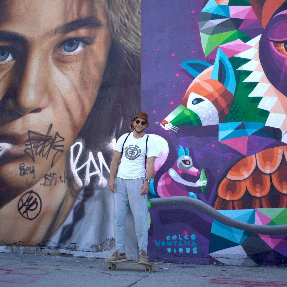 Граффити Район - Стрит Арт, хипстеры,, модный Бруклин
