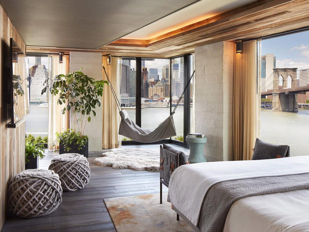 1 Hotel Brooklyn Bridge ✩✩✩✩✩ - Стандартный номер:От $330 до $650 за ночь.(В зависимости от сезона)Район: Бруклин