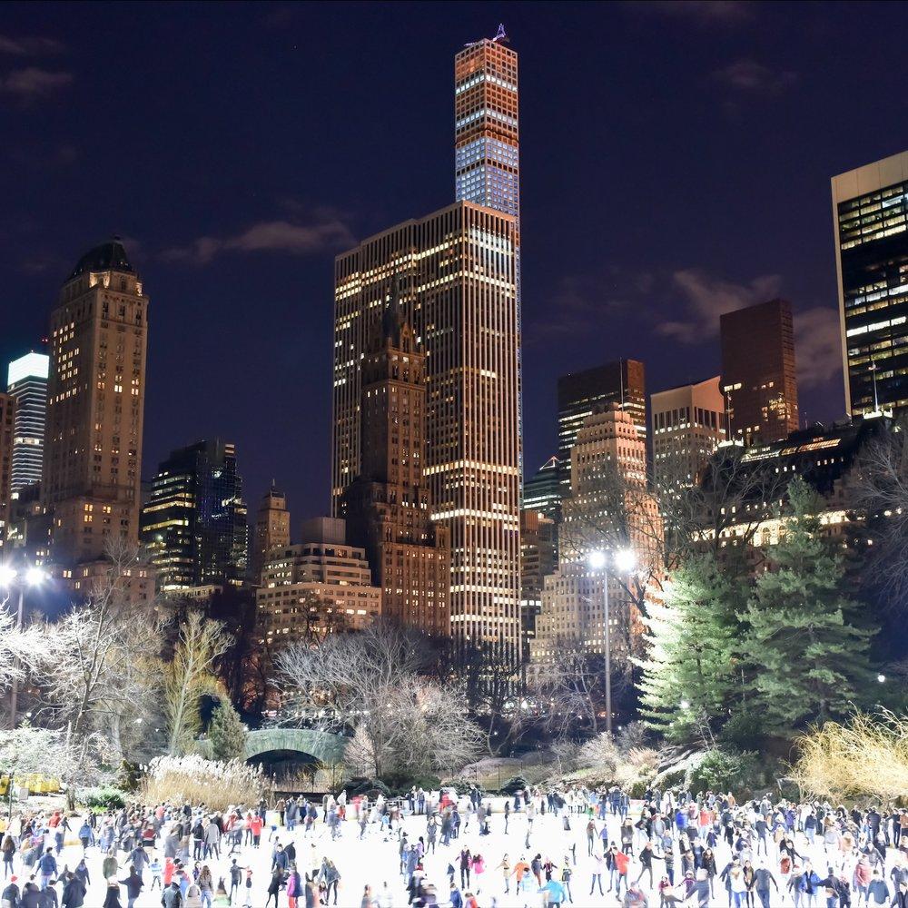 Каток в Центральном парке -
