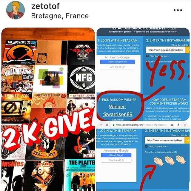 Only gone & won a copy of @riseagainst 'a Wolves album from this lovely chap haven't I? Cheers @zetotof !  #punk #album #giveaway #winner