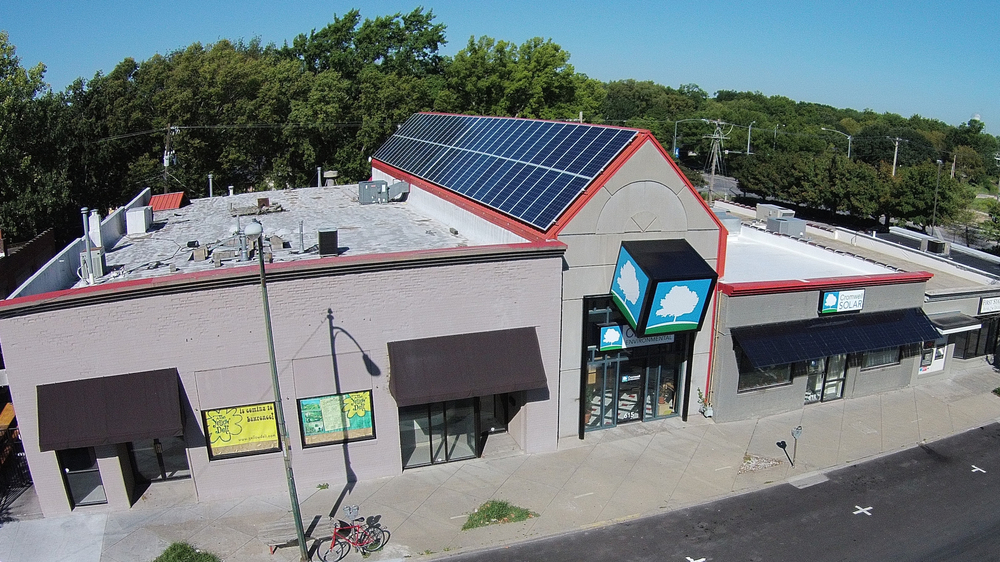 Our building is 100% solar powered