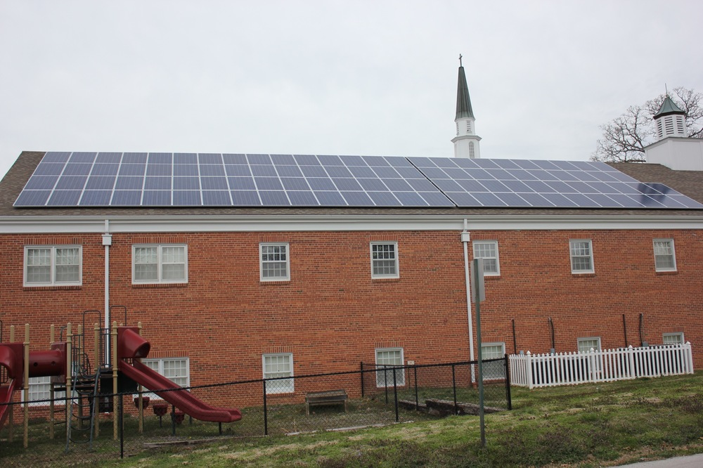 Solar array on a church © 2015 Cromwell Environmental