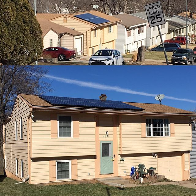 Pictures of our recently completed 3.4 kW #solararray in N KCMO. #mosolar #kcmo