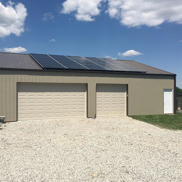 This 9 kW array near #berrytonks is ready for summer! Let there be sun! #kssolar