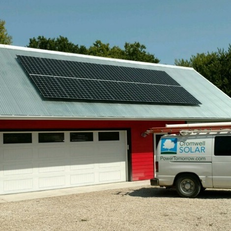 We recently completed this 5 kW project near #lecomptonkansas. It features 16 Q Cells panels.