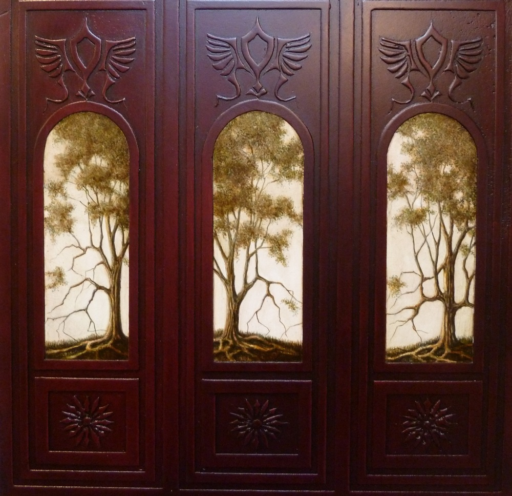 Three Trees With Carved Frame - Sold