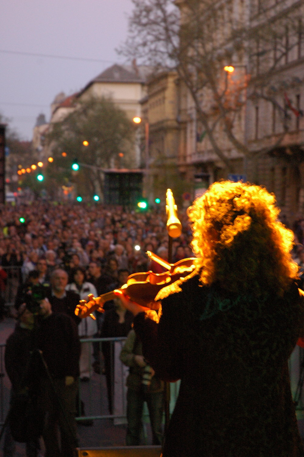 March of the living Budapest-Performing Kaddish in front of 16.000 people
