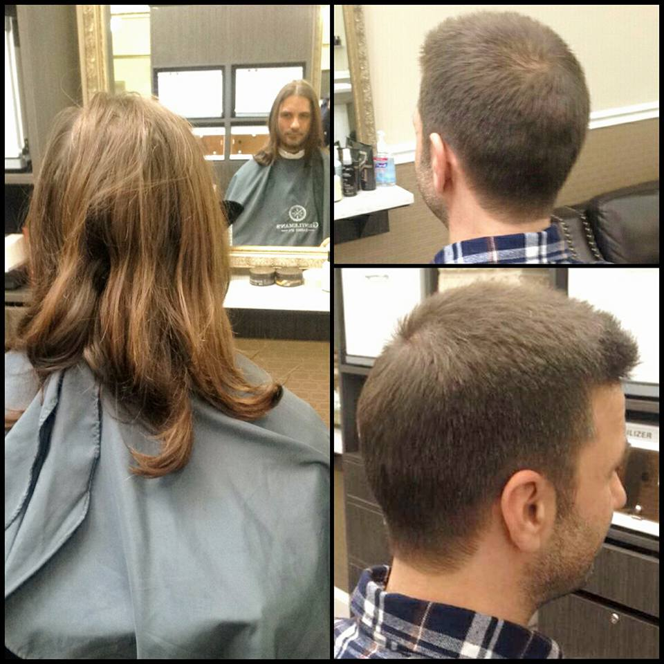 Awesome This Was Special Haircut, Our Client Donated His Hair To A Worthy Cause. He  Trusted Gentlemanu0027s Barber Spa To Make Him Look Great.
