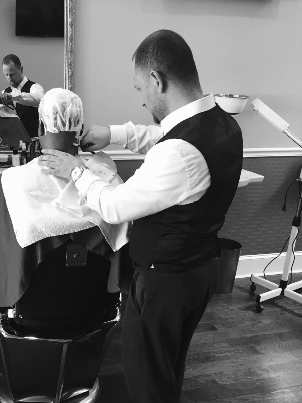 A full service conditioning head shave