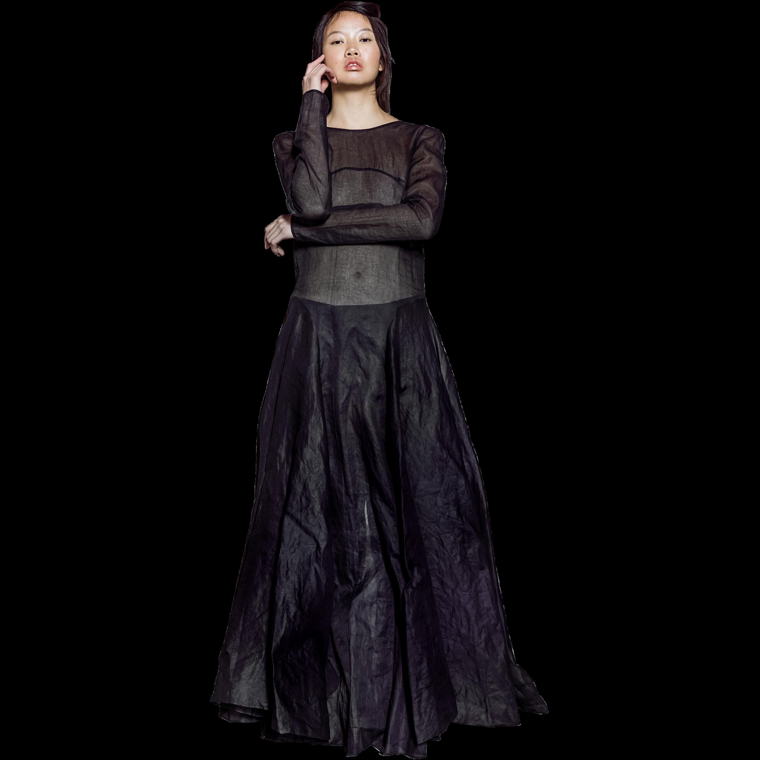 a15e940522 Black Long Sleeve Dress With Full Skirt - Gomes Weine AG