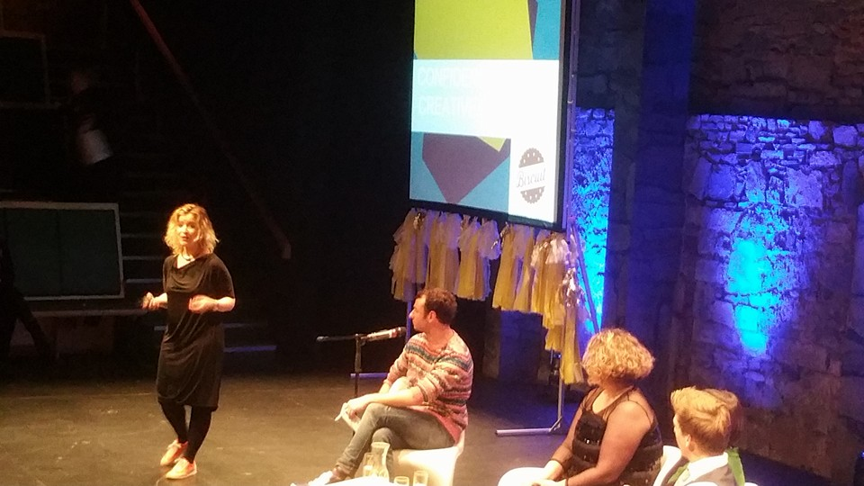 Tara Prendergast from  Biscuit.ie  speaking on the Le Cool Panel at Creative Show and Tell, Dublin