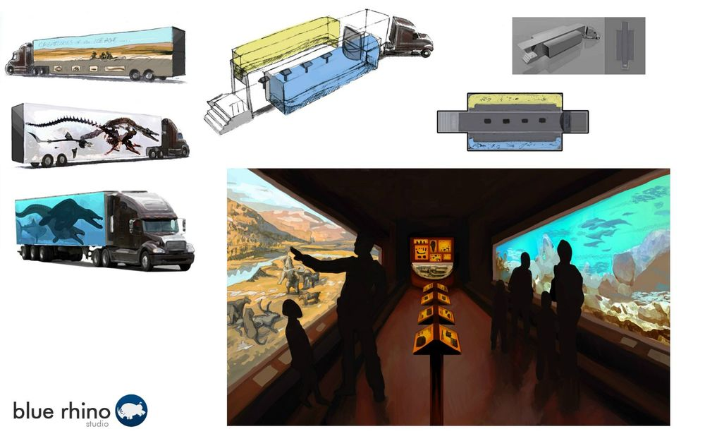 Semi Truck Traveling Exhibit Design