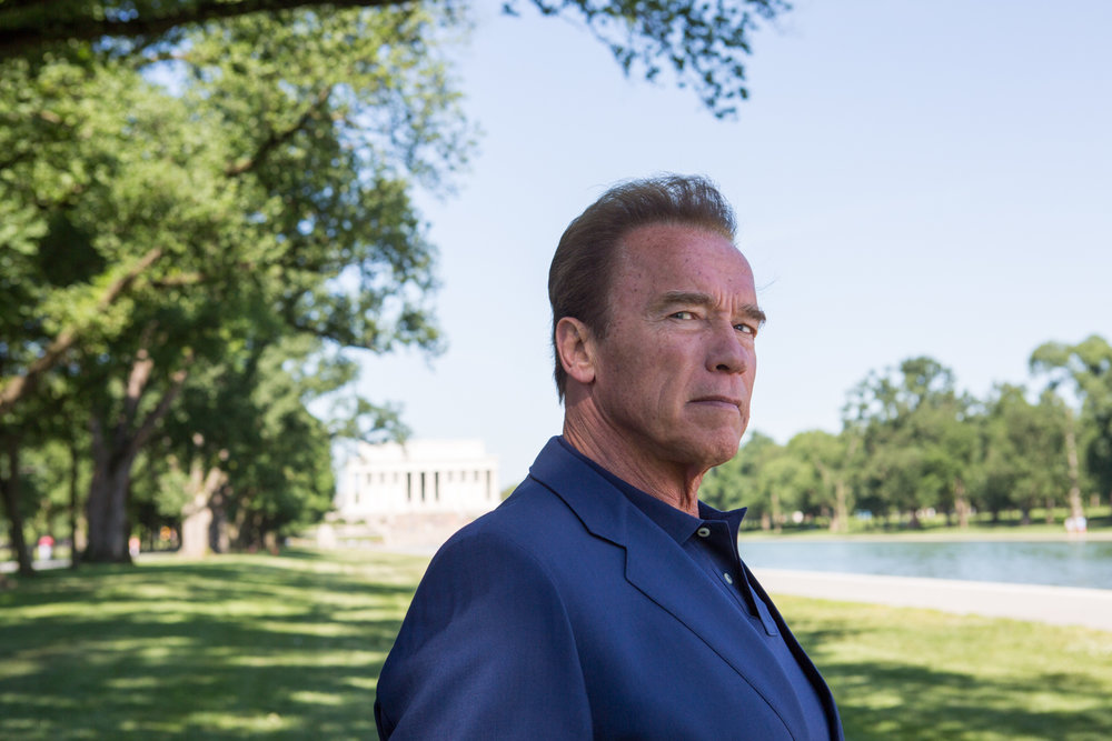 Arnold Schwarzenegger poses for a portrait in Washington, D.C. during  National Geographic Channel 's production of  Years of Living Dangerously .