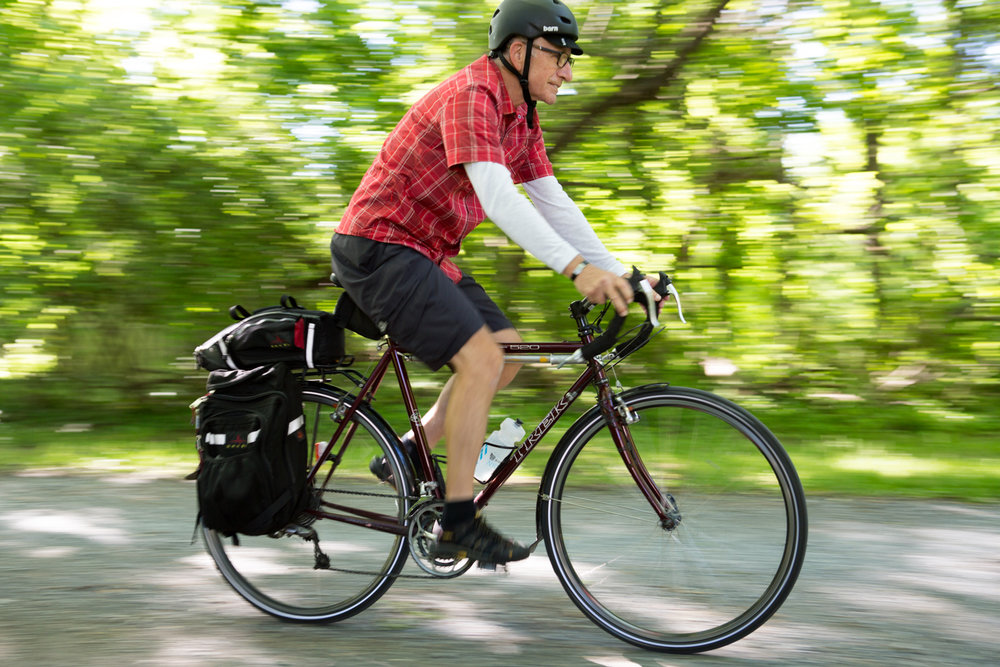 Wayne Clark, AARP, Eric Kruszewski, editorial photographer, Washington, D.C., Maryland, bicycle, bicycling, portraits