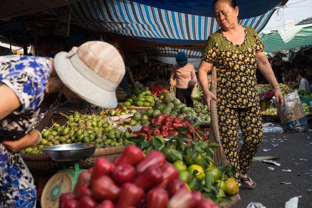Chau Doc market, Vietnam